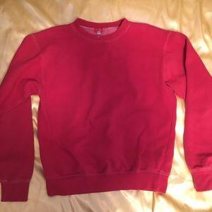 Red brandy Melville pullover sweatshirt